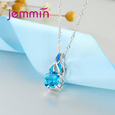 fashion jewelry silver necklace images Jemmin high quality purple blue fire opal pendants necklaces for jpg