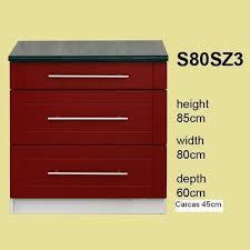 meuble cuisine 80 cm soldes meuble de cuisine 3 tiroirs 80 cm élément bas