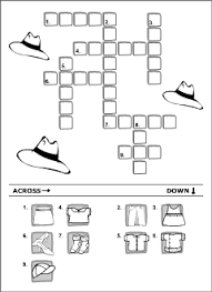 clothes vocabulary for kids learning english printable resources