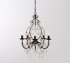 How To Clean Crystal Chandeliers Paige Crystal Chandelier Pottery Barn