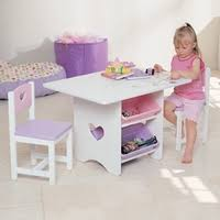 little girls table and chair set heart storage table chair set