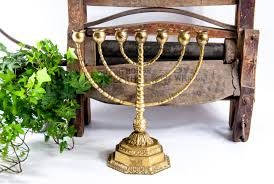 vintage menorah brass menorah vintage menorah candlestick judaica candle