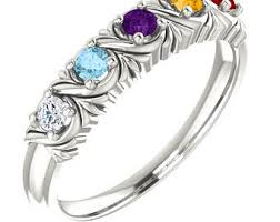 6 mothers ring grandmothers ring etsy