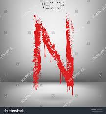 vector hand paint letter n hand stock vector 478172551 shutterstock