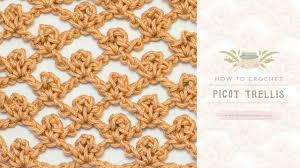how to crochet the picot trellis stitch easy tutorial by