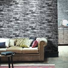 haokhome 69092 pvc vinyl retro vintage faux brick wallpaper black