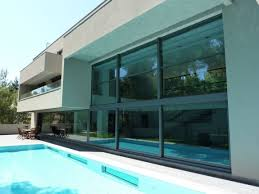 interior beautiful luxury glass house completed with stunning