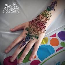 moroccan rainbow glitter henna www jamilahhennacreations com