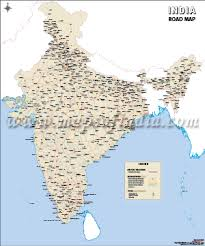 map on road india road maps