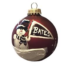 painted snowman ornament bates college store