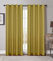 Yellow Grommet Curtain Panels by Soho Sheer Drapery Curtain Panels With Grommets 5 Colors U2013 Urbanest