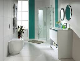 Green And White Bathroom Ideas by Simple Interior Bathroom In White And Green Accent White And
