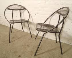 Mid Century Outdoor Chairs Mid Century Metal Patio Chairs By Rid Jid At 1stdibs