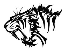 tribal sabre tooth drawing sabertooth by revie6661 s