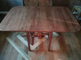 Maple Drop Leaf Table Solid Maple Drop Leaf Table Pegged Antiques In Manitou