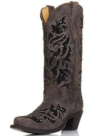 womens justin boots size 11 womens sequin inlay snip toe cowboy boots brown black