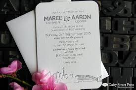 wedding invitations sydney sydney chic skyline press