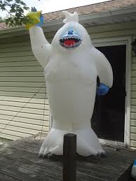 Abominable Snowman Outdoor Christmas Decorations by Gemmy Airblown Inflatable 8ft Bumble Abominable Snowman Rudolph