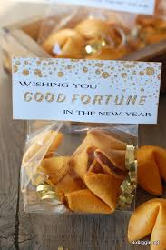 new year s fortune cookies new years fortune cookie bag toppers by no biggie flatlay