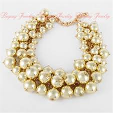 white pearl beaded necklace images Fashion jewelry clearance sale online gold chain lots white pearl bead jpg