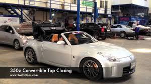 nissan 350z convertible 350z convertible closing top youtube