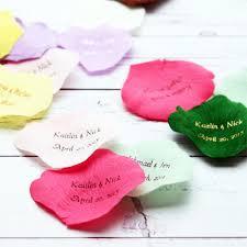 silk petals personalized silk petals 100 pcs garden theme wedding