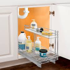 deep pull out under sink organizer chrome in pull out baskets