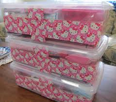 Decorate Cardboard Box Hello Kitty Duck Tape Can Decorate Plastic Or Cardboard Boxes For