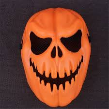pumpkin mask plastic orange pumpkin skull mask orange