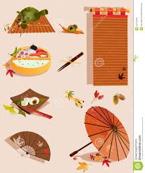 set of objects related to japanese culture stock vector image