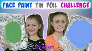 face paint tin foil challenge halloween series 2017 jacy and