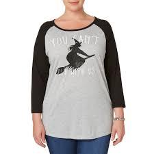spirit halloween order status joe boxer juniors u0027 plus halloween graphic shirt witch