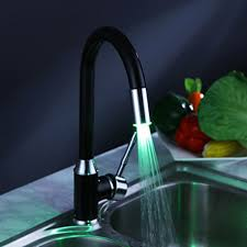 led kitchen faucets painting finish kitchen faucet with color changing led light