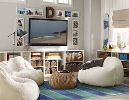living room bean bags pb teen for the playroom around tv love the wooden letter and