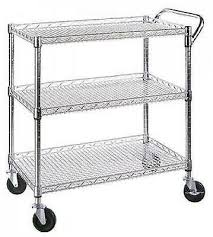 serving cart on wheels restaurant dining room utility server
