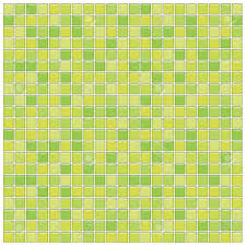 bathroom wall with green glass mosaic tiles stock photo picture