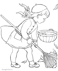 kid coloring page for autumn fall coloring pages for kids kids