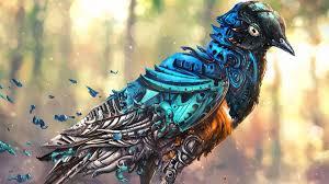 robot bird wallpaper wallpapersfans com