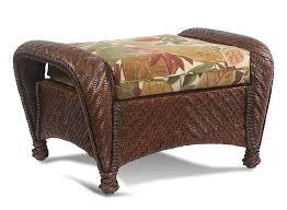 Cushion Ottoman Rattan Ottoman Cushion