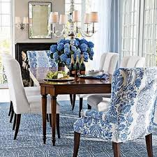 Blue Upholstered Dining Room Chairs Insurserviceonlinecom - Cushioned dining room chairs