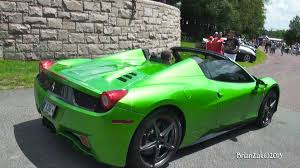 chrome ferrari 458 green ferrari 458 spider video carpower360 carpower360