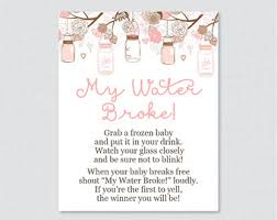 my water baby shower woodland baby shower my water sign printable