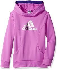 light pink adidas sweatshirt buy adidas little girls performance hoodie light purple 5
