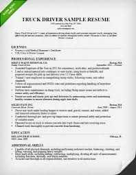 Skills Summary Resume Sample by Truck Driver Resume Sample And Tips Resume Genius