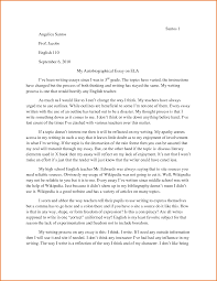 Character Sketch Essay Sample Example Of Autobiographical Essay Autobiography Essay Example