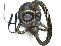 Gas Mask Halloween Costume Steampunk Rivet Head Wasteland Cosplay Costume Halloween