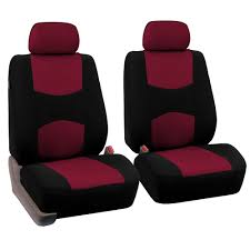 pair bucket fabric seat covers for detachable headrest seats ebay