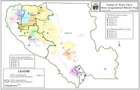 County Map Of California Redistricting Registrar Of Voters County Of Santa Clara