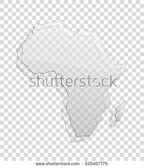 3d africa map vector continent transparent icon image africa stock vector