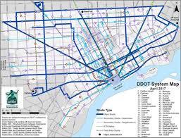 Detroit Edison Outage Map Detroit Bus Map Map Of Detroit Bus Michigan Usa
